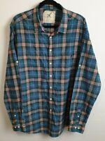 R&G Men's Long Sleeve Japanese Fabric Shirt Size XXL