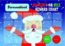 Personalised Christmas Countdown Reward Chart - Naughty Or Nice Behaviour XMAS