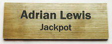1 x Brushed Gold 60x20mm Name Badge Tag with Pin Fastener FREE Post