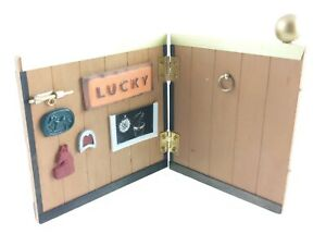 """Horse Toy Dollhouse Stable Backdrop Hinged Panel 9""""x4.5"""" Decorations"""
