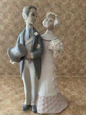 Vintage Lladro Bride And Groom Wedding Couple Porcelain Figurine 4808 Retired
