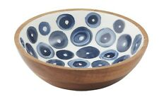 Santorini Wood and Enamel 20 X 6cm Bowl