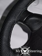 FOR KIA SPORTAGE 2 05-09 PERFORATED LEATHER STEERING WHEEL COVER GREY DOUBLE ST