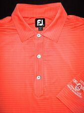 FOOTJOY GOLF POLO SHIRT -XXL- TROPICAL SALMON STRIPE -STRETCH -PRODRY LISLE