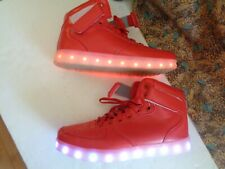 Flash Kicks Unisex Light Up Sneakers Shoes Red High Top Eu size 39