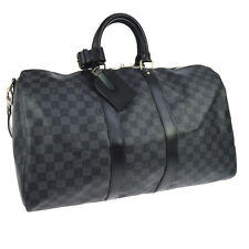 LOUIS VUITTON KEEPALL 45 BANDOULIERE 2WAY HAND BAG DAMIER GRAPHITE YG02051d