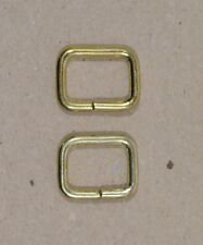 """Keepers - Brass Plated - 1/2"""" wide x 3/8"""" tall - Pack of 25 (F459)"""