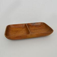 Vintage Monkey Pod Wood Schale / Holz-Schale / Mid-Century / bowl / Doppelmulde