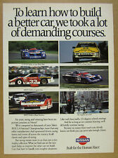1988 Nissan 300ZX Turbo & GTP ZX-Turbo race cars photos vintage print Ad