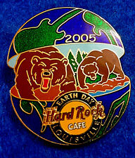 LOUISVILLE EARTH DAY 05 WORLD GLOBE SERIES GRIZZY BROWN BEARS Hard Rock Cafe PIN
