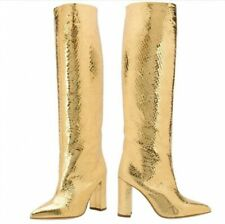 Gold Sequin Disco Gogo 70s Shera Queen Hippolyta Cosplay Costume Boots Womans