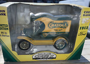 Gearbox 1912 Ford Delivery Van Crayola Crayon Coin Bank Goodyear #3 In Box