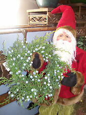 "NWT Oregon Juniper Berry Cedar Bough  8"" Candle Ring Christmas Small Wreath"