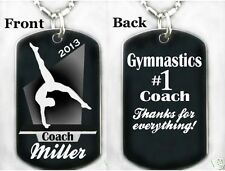 GIRLS GYMNASTICS COACH - Dog tag Necklace/Keychain + FREE ENGRAVING