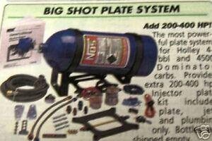 NOS BIG SHOT 4 BBL SQUARE FLANGE HOLLEY  KIT 02101 CHEVY FORD MOPAR