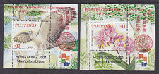 Philippines Stamps 2001 MNH Chinese Philatelic Club Eagle & Orchids complete set