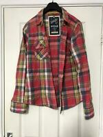 Superdry Red Casual Shirt Size Large Womens Long Sleeve Great Condition (D897)