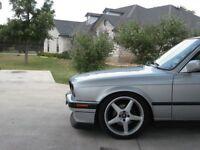 Apron for BMW E30 front Bumper spoiler chin lip addon valance trim splitter