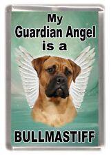 "Bullmastiff Dog Fridge Magnet ""My Guardian Angel is a BULLMASTIFF"" by Starprint"