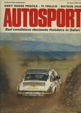 AUTOSPORT 25th APRILE 1974 * SAFARI RALLY & DATSUN 260 Z *