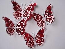 12 media 3D Die Cut Farfalla Decorazioni Per Rosso/Bianco Matrimonio/Compleanno