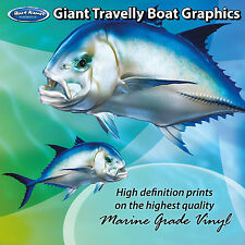 Giant Travelly Graphics - set of 300mm Boat Graphics