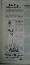 1917 Sherwin Williams house paint varnish delay means Decay painter ad