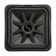 Kicker L7R 12 Inch 1200W Max Power 4 Ohm DVC Square Car Audio Subwoofer, Black