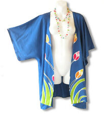 CB29 Blue Plus Size Cardigan Duster Jacket Kimono Cover up - 2X, 3X, 4X & 5X