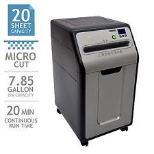 GoECOlife 20-Sheet Under-Desk Micro-Cut Shredder, 7.85 Gallon Bin