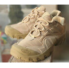Men's Lace Up Forces Military Army Boots Tactical Combat Leather Shoes AU Size #