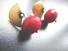 Runde Rubin Mode-Ohrschmuck für Damen