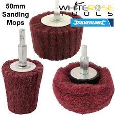 Silverline Schleifen Mop Set Zylinder Kegel Kelch Metall Holz Reinigung 3pc 50mm