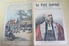 Le petit journal 1892 107 M. Périvier + Dahomey le drapeau français à Abomey