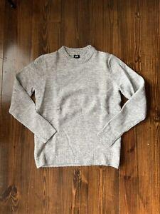 H&M Premium Crew Neck Sweater | M | Alpaca Acrylic Grey