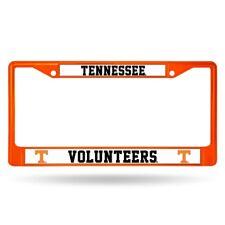 Tennessee Volunteers NCAA Licensed Orange Painted Chrome Metal License Frame