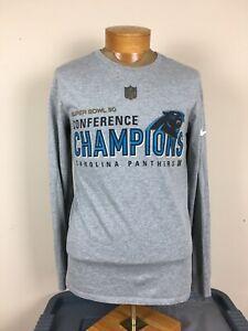 Nike Super Bowl 50 NFL Carolina Panthers Long Sleeve Shirt Men's Size M