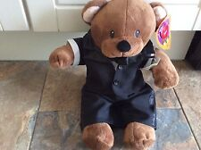 """teddy mountain junior brown bear dressed  bnwt 15""""   Teddy Soft Toy Plush"""