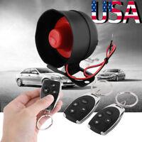 Auto Car Vehicle Burglar Alarm Protection Keyless Entry Security System 2 Remote