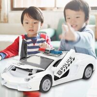 1:28 Mini Alloy Police Car Model Toy Pull Back Vehicle Decoration Gift For Kids