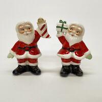 Vintage Christmas Santa Salt Pepper Shakers Gift & Stocking With Doll Japan