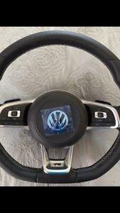 OEM VW GTI GLI ARTEON GOLF PASSAT DSG COMPLETE MULTIFUNCTION R LINE STEERING WHE