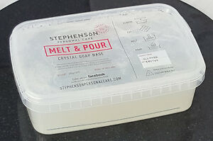 Clear Transparent 1kg Melt and Pour Soap Base - SLS Free - Soap Making