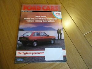 FORD CARS SEPTEMBER 1981 SALES BROCHURE