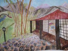 Japanese House and Landscape Backdrop
