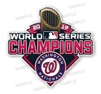 Nationals Washington 2019 Champions Precision Cut  Decal / Sticker