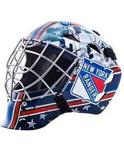 New York Rangers NHL Hockey Goalie Face Mask for Kids Street Hockey