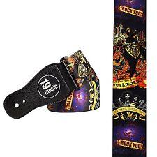Multi Coloured Mexican Rock Skull Guitar Strap (3024)