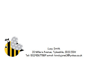 PERSONALISED A6 CORRESPONDENCE NOTECARDS CARDS CARD BUSINESS ADDRESS BEE