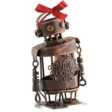 Wine Lovers-Mini CORK CAGE Christmas Ornament-ROBOT-with To-From Cork